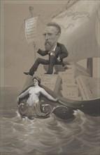 Samuel P. Avery Transporting His Treasures Across the Sea, ca. 1875-80. Creator: Theodore Wust.