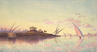 View on the Nile near Cairo, ca. 1855. Creator: Thomas Seddon.
