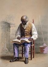 Reading the Scriptures, 1874. Creator: Thomas Waterman Wood.