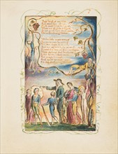 Songs of Innocence and of Experience: The Ecchoing Green (second plate), ca. 1825. Creator: William Blake.