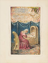 Songs of Innocence and of Experience: Cradle Song (second plate): Wept for me..., ca. 1825. Creator: William Blake.