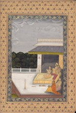 Women Enjoying the Moonlight, 18th century. Creator: Unknown.
