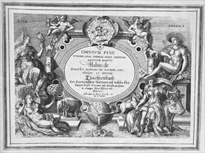 Title Page, 'Omnium Pene Europae, Asiae, Aphricae atque Americae Gentium Habitus', 1580. Creator: Abraham de Bruyn.