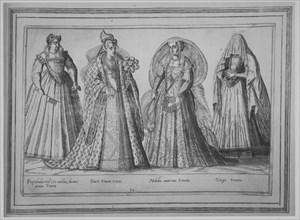 Prostibula vel (ut mollius dicam) amica Veneta; Ducis Veneti Vxor; Nobilis matrona Veneta;..., 1580. Creator: Abraham de Bruyn.