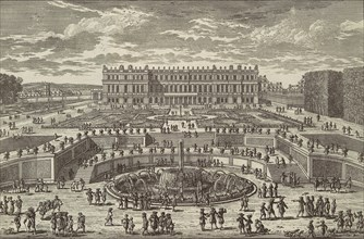 Veue du chasteau de Versailles (View of Versailles, garden facade), 1680s. Creator: Adam Perelle.
