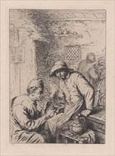 The Smokers, after Ostade, 19th century. Creator: After Adriaen van Ostade.