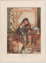 """Tired Out, from """"The Graphic"""" Christmas number, December 7, 1885. Creator: After Adrien-Emmanuel Marie."""