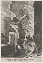 Hercules and Cerberus, 1586-1629. Creator: Aegidius Sadeler II.