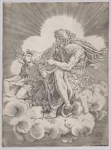 Saint Matthew, dated 1518. Creator: Agostino Veneziano.