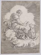 Saint Luke, 1518. Creator: Agostino Veneziano.