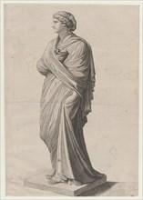 Speculum Romanae Magnificentiae: A Vestal Virgin (?), 16th century., 16th century. Creator: Anon.