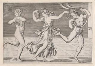 Speculum Romanae Magnificentiae: Dance of Fauns and Bacchants, 1518., 1518. Creators: Anon, Agostino Veneziano.