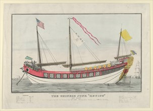 "The Chinese Junk ""Keying""-Captain Kellett-As she appeared in New York harbour July 13th, 1..., 1847. Creator: Nathaniel Currier."