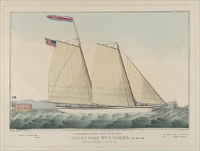 Extraordinary Express Across the Atlantic - Pilot Boat William J. Romer, Captain McGuire, ..., 1846. Creator: Nathaniel Currier.