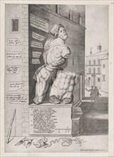 Speculum Romanae Magnificentiae: Statue of Pasquin in the House of Cardinal Ursino, 1550., 1550. Creator: Unknown.