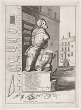Statue of Pasquin in the House of Cardinal Ursino, Published after 1582., Published after 1582. Creator: After Nicolas Beatrizet.