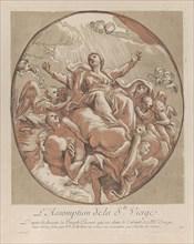 Assumption of the Virgin; from 'Recueil d'estampes d'après les plus beaux tableaux ..., ca. 1729-40. Creator: Nicolas Le Sueur.