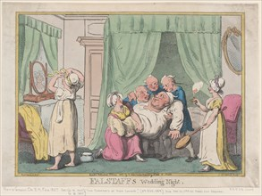 Falstaff's Wedding Night, October 1807., October 1807. Creator: Nicolaus Heideloff.