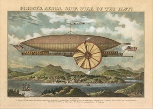 Prince's Aerial Ship. Star of the East!, 19th century., 19th century. Creator: Norris's Lithography.