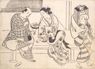 Amorous Couple, early 18th century., early 18th century. Creator: Okumura Masanobu.