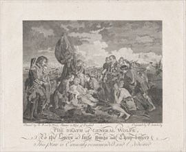 The Death of General Wolfe (September 13, 1759), after 1776., after 1776. Creator: P. Somebody.