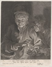 Old woman and a boy with candles, ca. 1620-30., ca. 1620-30. Creator: Possibly by Paulus Pontius.