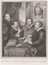 The Four Philosophers: Justus Lipsius, Hugo Grotius, Peter Paul Rubens, and Philip Rube..., 1770-82. Creators: Peter Paul Rubens, Unknown.