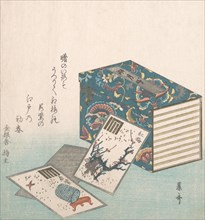 Books and Cards, 18th-19th century., 18th-19th century. Creator: Reisai.
