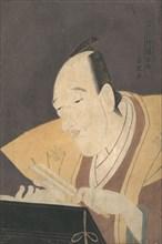 The Jo-ruri Narrator Tomimoto Buzendaya, ca. 1795., ca. 1795. Creator: Rekisentei Eiri.