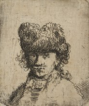 Self-Portrait in a Fur Cap: Bust, 18th century., 18th century. Creator: Unknown.