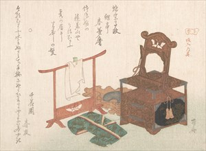 Accoutrements for a Bride From the Spring Rain Collection (Haru..., probably 1816 (Year of the Rat). Creator: Shinsai.