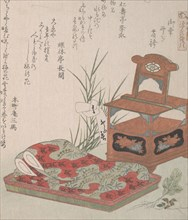 Cabinet for the Toilet and Bedclothes, 19th century., 19th century. Creator: Shinsai.