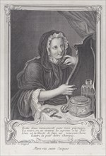 The Coquettish Widow, 1747., 1747. Creator: Simon Nicolas Duflos.