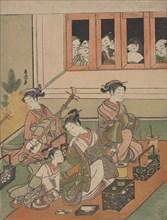 The Watchers and the Watched, 1764-72., 1764-72. Creator: Suzuki Harunobu.