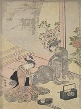 Parody of the Tale of Young Man Lu: Courtesan Dreaming, 18th century., 18th century. Creator: Suzuki Harunobu.