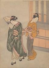 The Clear-day Mountain Wind of the Fan, ca. 1766., ca. 1766. Creator: Suzuki Harunobu.
