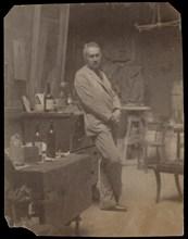 Self-Portrait, 1889-94., 1889-94. Creator: Thomas Eakins.