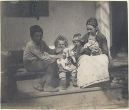 [Frances Crowell with Unidentified Boy, Katie, James, and Frances Crowell], 1890., 1890. Creator: Thomas Eakins.