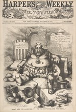 What are You Laughing at? To the Victor Belong the Spoils (from Harper's Week..., November 25, 1871. Creator: Thomas Nast.