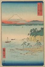 Fuji from Miura, Sagami (Soshu Miura no Kaijo), from the series Thirty-six Views of Mount ..., 1858. Creator: Ando Hiroshige.