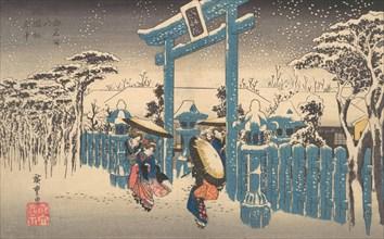 The Gion Shrine in Snow, ca. 1832., ca. 1832. Creator: Ando Hiroshige.
