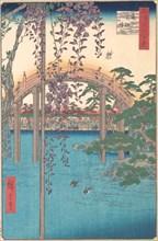 In the Kameido Tenjin Shrine Compound, 1856., 1856. Creator: Ando Hiroshige.