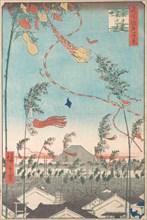 The Tanabata Festival, from the series One Hundred Famous Views of Edo , 1857., 1857. Creator: Ando Hiroshige.