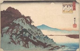 The Autumn Moon at Ishiyama on Lake Biwa., ca. 1835., ca. 1835. Creator: Ando Hiroshige.