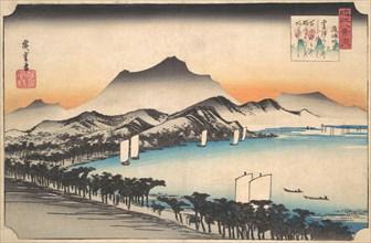 Clearing Weather at Awazu, ca. 1832., ca. 1832. Creator: Ando Hiroshige.