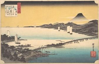 Sunset at Seta, ca. 1832., ca. 1832. Creator: Ando Hiroshige.