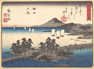 Sunset at Seta, ca. 1857., ca. 1857. Creator: Ando Hiroshige.