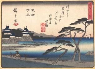 Clearing Weather at Awazu, 1857., 1857. Creator: Ando Hiroshige.