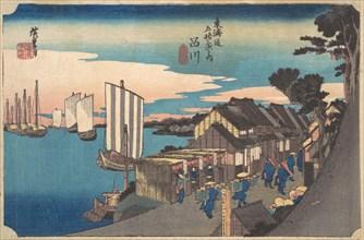 Daybreak at Shinagawa, ca. 1834., ca. 1834. Creator: Ando Hiroshige.
