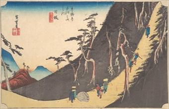 Nissaka, Sayo Nakayama, ca. 1834., ca. 1834. Creator: Ando Hiroshige.